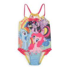 "My Little Pony ""Rarity, Rainbow Dash & Pinkie Pie"" One Piece Swimsuit (2T)"