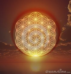 Flower of life in the sky as holistic Reiki sign. Portal to Heaven, another dime. Flower of life in the sky as holistic Reiki sign. Portal to Heaven, another dimension, world. Vector Company, Company Logo, Landscape Background, Sunset Sky, Sky And Clouds, Flower Of Life, Sacred Geometry, Reiki, Portal