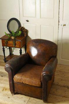 アンティーク クラブソファー(ブラウン)  French Antique Club Chair