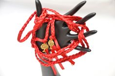 Red Passion Gold Purification Tree of Life Wedding Ceremony Handfasting Cord by DivinityBraid on Etsy