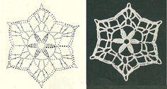 Zawieszki na choinkę                                                                                           ... Crochet Snowflake Pattern, Crochet Lace Edging, Crochet Stars, Crochet Snowflakes, Crochet Diagram, Afghan Crochet Patterns, Knit Crochet, Crochet Granny, Crochet Christmas Ornaments