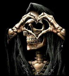 Skullnique/Skull products for skull lovers Dark Fantasy Art, Dark Art, Freund Hein, Arte Lowrider, Grim Reaper Art, Totenkopf Tattoos, Reaper Tattoo, Skull Pictures, Tattoo Ideas