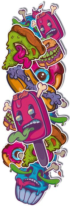 Poison Food | stickerz by Alex Isoptera, via Behance