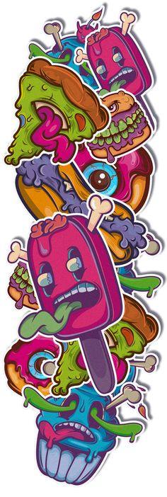 Poison Food | stickerz by Alex Isoptera, via Behance