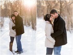 Winter Newport Engagement Session - Tricia McCormack Photography