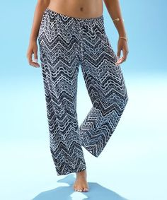 This Black & White Marzaz Palazzo Pants Cover-Up is perfect! #zulilyfinds