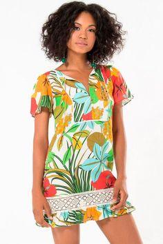 Vestido Curto Farm Renda Floral Primavera 239334 - BabadoTop