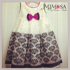 Bh Baby Frock Pattern, Frock Patterns, Kids Dress Patterns, Cute Girl Dresses, Little Girl Dresses, Baby Girl Fashion, Kids Fashion, Kids Dress Wear, Baby Dress Design