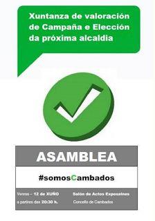 CORES DE CAMBADOS: ASEMBLEA DE SOMOS CAMBADOS ESTE VENRES