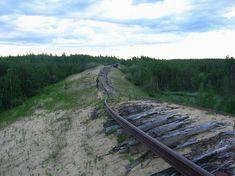 Abandoned railway in Russia
