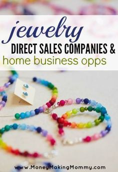 Looking for a home business that focuses on jewelry? Big list to explore! Earn From Home, Make Money From Home, Way To Make Money, Work From Home Opportunities, Work From Home Jobs, Home Party Business, Business Ideas, Business Help, Home Websites