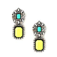 Mixed Neon Drop Earrings