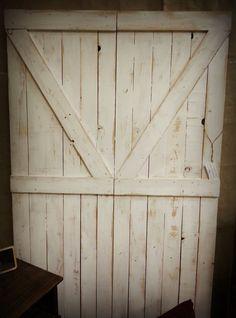 Reclaimed Wood Barn Door Headboard