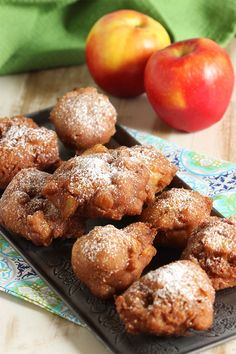 Super Easy Apple Fritter recipe is better than any bakery.  Crisp and light as air, these apple fritters are totally addicting. | @suburbansoapbox #brunchweek