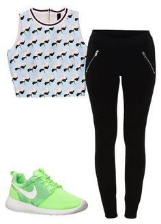 """Untitled #351"" by alexisbae2231 ❤ liked on Polyvore featuring VILA and NIKE"