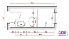 Banheiro: Ergonomia & Circulação - Clique Arquitetura