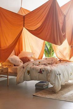 Canopy Bed Curtains, Canopy Bedroom, Diy Canopy, Canopy For Bed, Canopies, Ceiling Canopy, Living Room Canopy, Curtain Over Bed, Curtains Around Bed