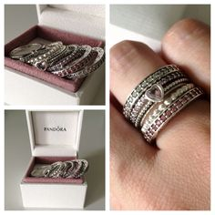Stack rings #Pandora #Pandorarings