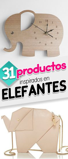 31 Productos inspirados en elefantes. Elephants products. Productos. Decoración