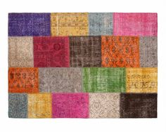 If you love multicolour rugs, our Yagmur rug, in the overdyed patchwork collection from Turkey, is a splendid choice. Buy it at $193 because you buy it directly from the artisans who handcraft it.