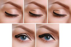 How To Apply Thick Squared Eyeliner