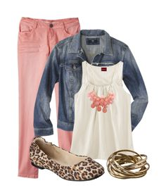 Pretty in PInk look featuring clothes from #Target by Targetsavers.com...love the animal print shoes!