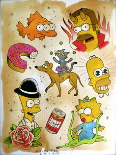 The D'oh Show - SIMPSONS TATTOO SPECIAL!  In honor of the D'oh Show, a Simpsons themed art show at Tarte Vintage in Santa Ana, I'll be offering these or any SIMPSONS tattoos at half price until the opening event on February 1. Show up to the show rocking your new Simpsons ink!  Join the event here: https://www.facebook.com/events/1431064880456820/?ref=br_tf