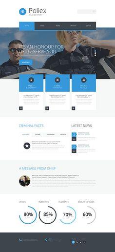 Template 53899 - Poliex Police  Responsive Website Template