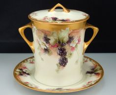 Vintage Hutschenreuther Condensed Milk Jar - Blackberries