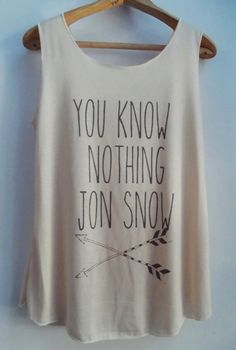 You Know Nothing Jon Snow Game of Thrones by vintageartshirt, $15.00