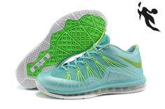 Nike Air Max Lebron 10 Low Turquoise Green White