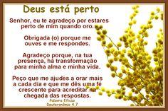 Promessas para hoje: Deus Está Perto Quando Oramos-Deuteronômio 4.7