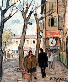 """La calle"" Alceu Ribeiro (1919-2013), uruguayo."