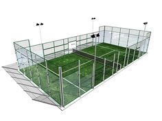 IronCore II - Metallic structure with 10mm glass panes. Our best selling court.