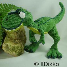 Nem IlDikko Amigurumi Pattern: T-mothy the T-rex. Have a nice crocheting time! :)