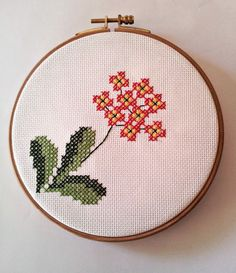 hand embroidery cross stitch in hoop by kyonca on Etsy, $25.00