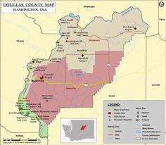 map of douglas usa mapslocation mapdouglas countycounty seatwashington stateriversriverwashington