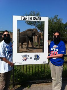 The Elephants from Sedgwick County Zoo Fear The Beard! Tickets are on sale sale now for the Oklahoma City Thunder NBA preseason game 10/24.
