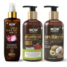 Amla Hair Oil, Wow Hair Products, Skin Products, Beauty Products, Dandruff Control, Apple Cider Vinegar For Hair, Coconut Milk Shampoo, Onion For Hair, Reduce Hair Fall