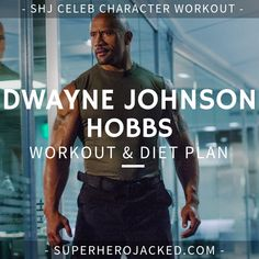 """Dwayne """"The Rock"""" Johnson's Workout Routine and Diet: How the Sexiest Man Alive Trains to be Superhero Jacked! The Rock Workout Routine, 12 Week Workout, Workout Diet Plan, Workout Routines, Workout Ideas, Workout Challenge, Dwayne Johnson Body, 12 Week Body Transformation, Celebrity Workout"""
