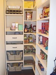 California Closets Pantry Solution With Wine Rack Spice Drawers