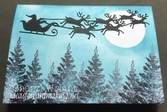Looking for free card making ideas? I\'ve been making my own homemade cards for several years now, and I will show you how you can do the same. Santa With Reindeer, Santa Sleigh, All You Need Is, Homemade Cards, I Card, Advent Calendar, Moose Art, Card Making, Stamp