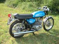 Kawasaki 500 triple. Test rode one circa 1975. Nearly killed myself so decided against it