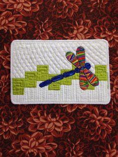 Quilt to the Edge --cute Idea for a mug rug.