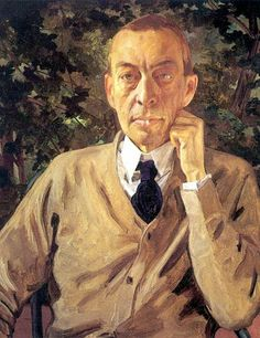 Sergei Rachmaninov by Konstantin Somov (1925)