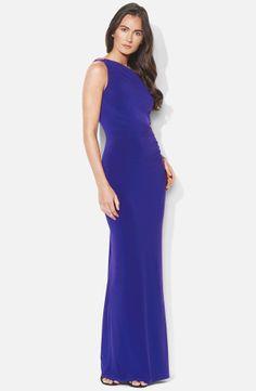 One Shoulder Matte Jersey Gown