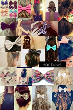 I love hairbows! Different Patterns, Diy Flowers, Hair Bows, Band, Cute, How To Wear, Outfits, Hairstyles, Fashion