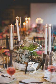Modern Wedding at the Chuck Jones Center Venue: The Chuck Jones Center / Event Planner: In The Now Weddings / Photographer: Floataway Studios / Floral Design: The Vine's Leaf / Linens: La Tavola / Catering: 24 Carrots / Cake: Sweet & Saucy Shop