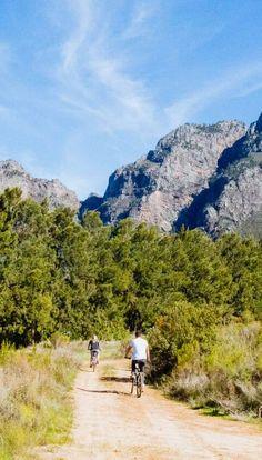 Hike and cycle the mountains Beautiful Scenery, Bikers, Lodges, Where To Go, Mountain Biking, Trek, Safari, Cape, Paradise