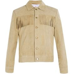 TOPMAN Nick Grimshaw Sand Fringe Jacket ($62) ❤ liked on Polyvore featuring men's fashion, men's clothing, men's outerwear, men's jackets, jackets, mens fringed leather jacket, mens leather jackets and mens fringe jacket